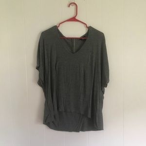 MOSSIMO I Grey T Shirt w Zipper